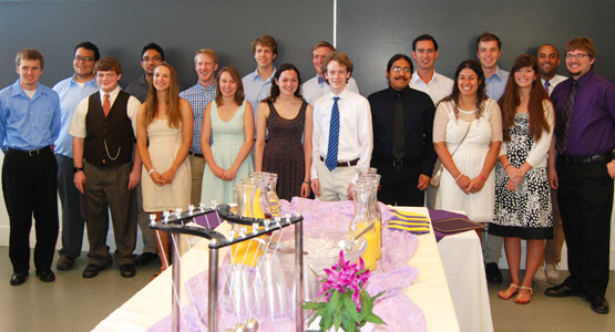 Physics and Astrophysics Class of 2014 at the graduation breakfast.