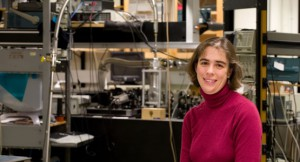 Prof. Sarah Bolton in her research lab